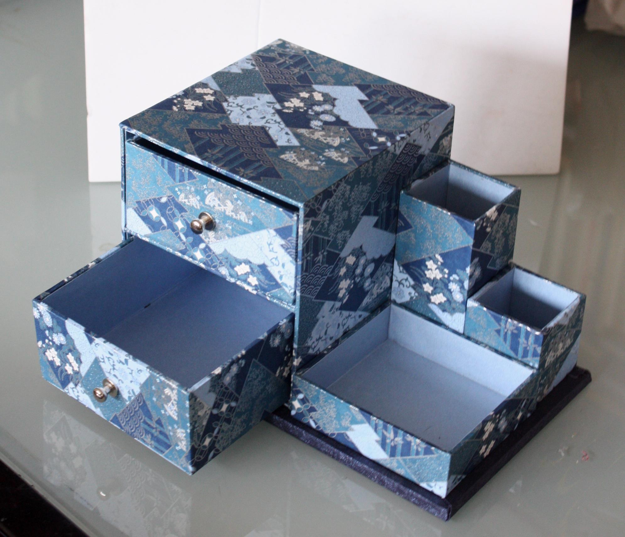 Mot cl cartonnage petites pens es et autres histoires - Fabriquer une boite a maquillage ...